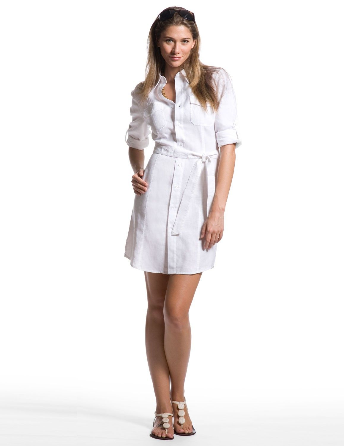 Island Companys White Safari Shirt Dress Is A Classic Dress Great
