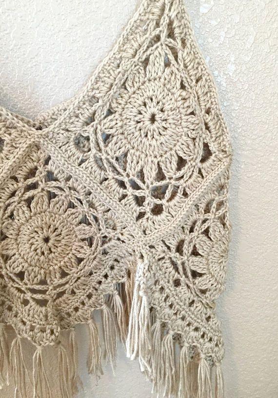 Boho Tank Crochet PATTERN - Crochet Top Pattern - Boho Tank Top ...