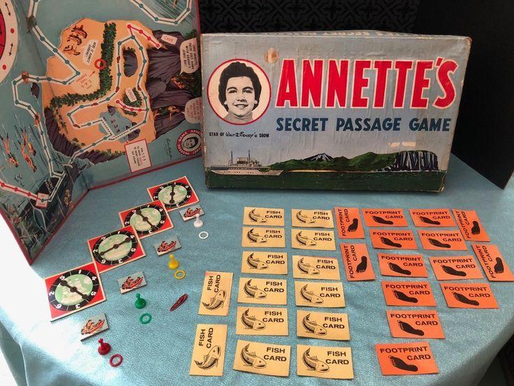 Vintage Walt Disney Secret Passage Board Game