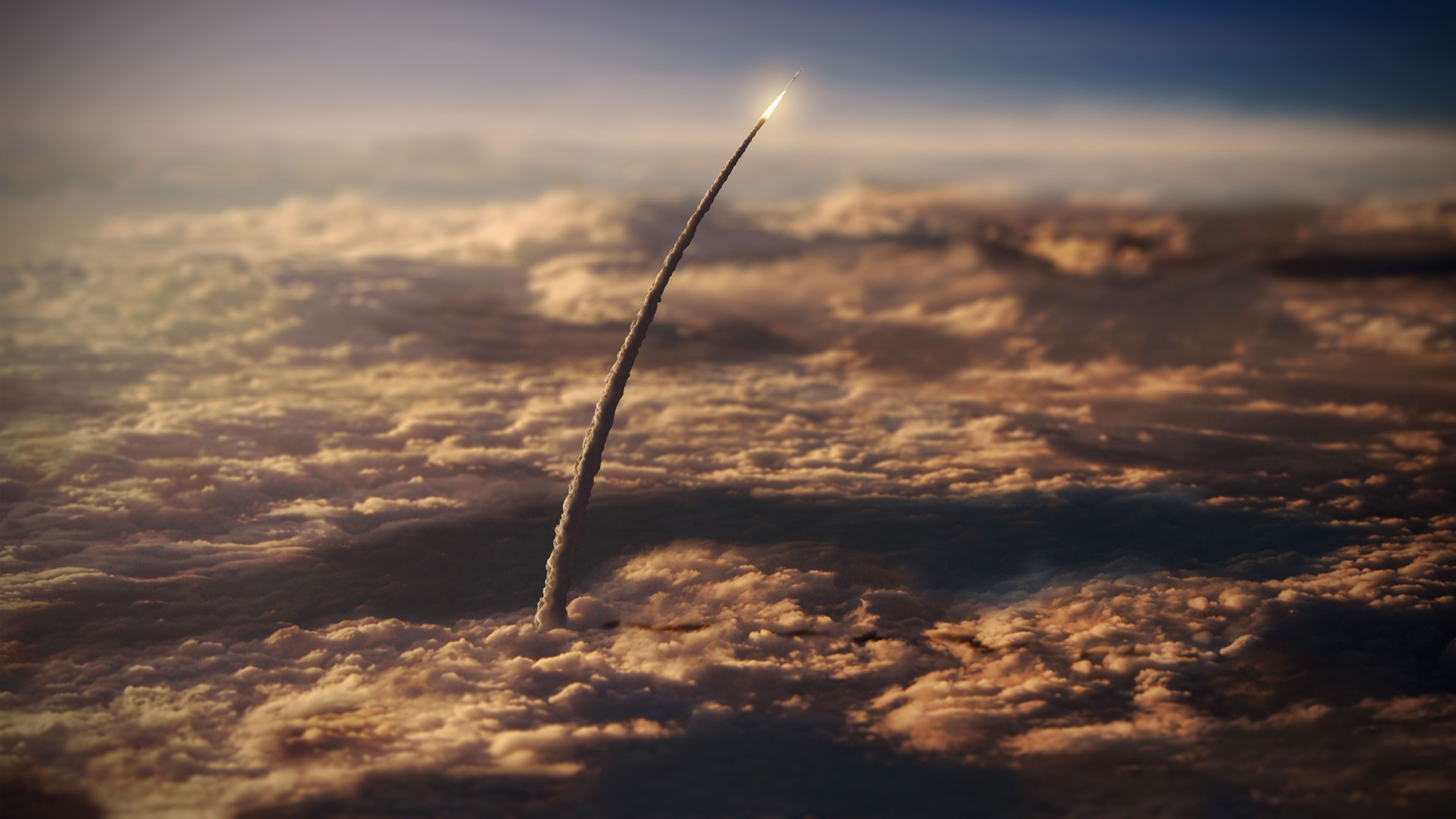 Tilt Shift Rocket Launch 3840x2160