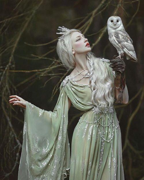 fantasy, magic, and owl  [Photography: A.M. Lorek]  [Model: Maria Amanda]