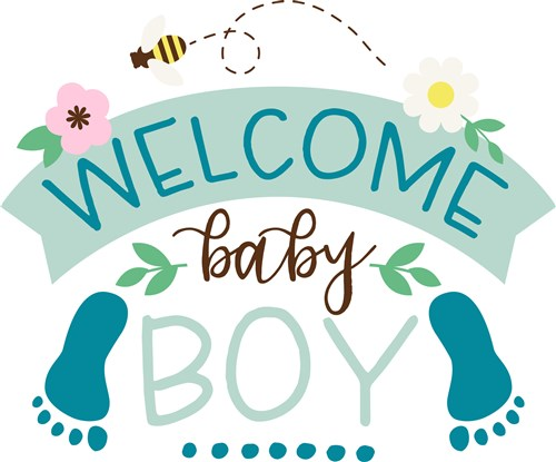 Welcome Baby Boy Print Art Bugs Print Art At Embroiderydesigns Com Welcome Baby Boys Baby Boy Quotes Congratulations Baby
