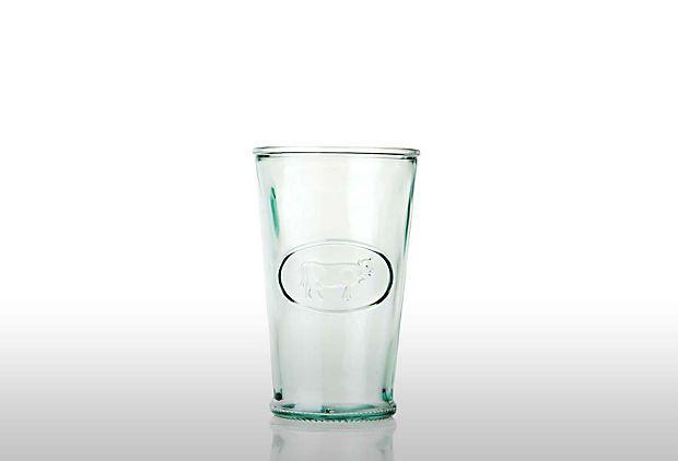 Set of 8 Recycled Milk Glasses on OneKingsLane.com