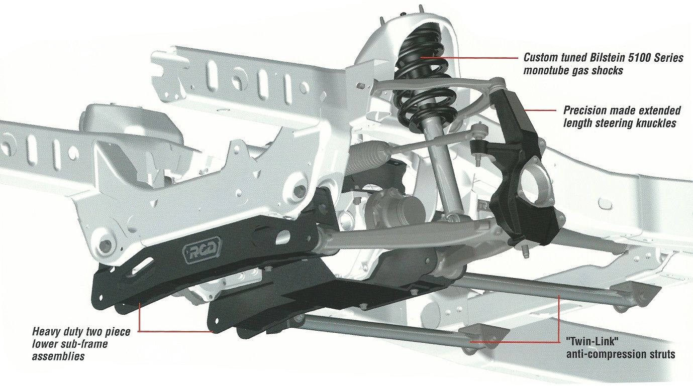 5 Rcd Suspension Lift Kit For Toyota Tacoma 2005 2015 10 47405 Toyota Tacoma Lift Kits 2015 Toyota Tacoma