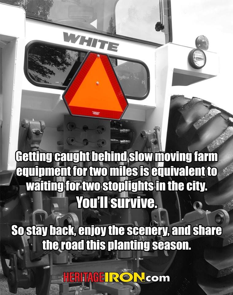 Be alert and stay safe as the farmers make their way to