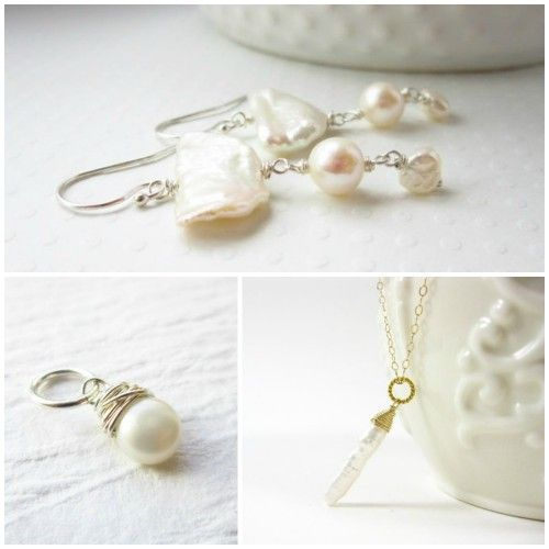 Malina of Just Dangles wraps up pearl pendants that are oh so lovely.