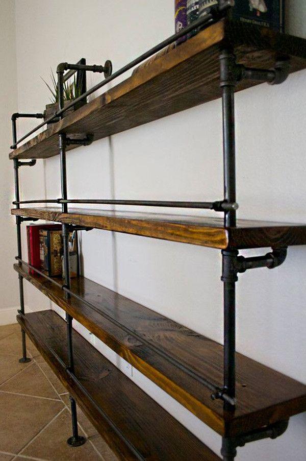 17 ideas de cmo poner estantes de metal en casa Pinterest