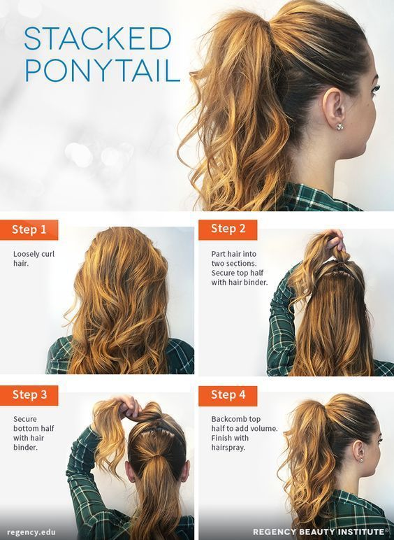 How to Create a Stacked Ponytail #QuickHairstyleTutorials - #Create #ponytail