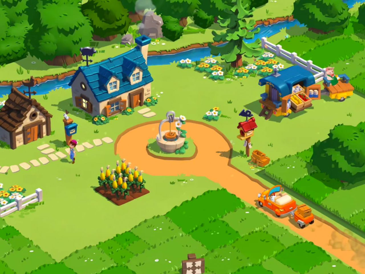 Country Friends Ios Farm Games Game Design Game Background