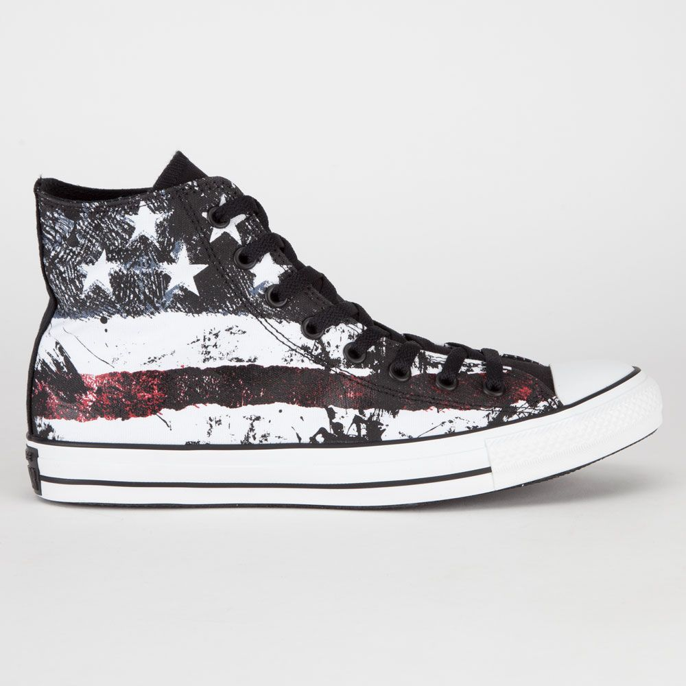 Converse Chuck Taylor All Star Hi shoes. Textile upper with allover American