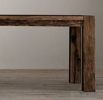 Reclaimed Russian Oak Parsons Rectangular Table | Restoration Hardware