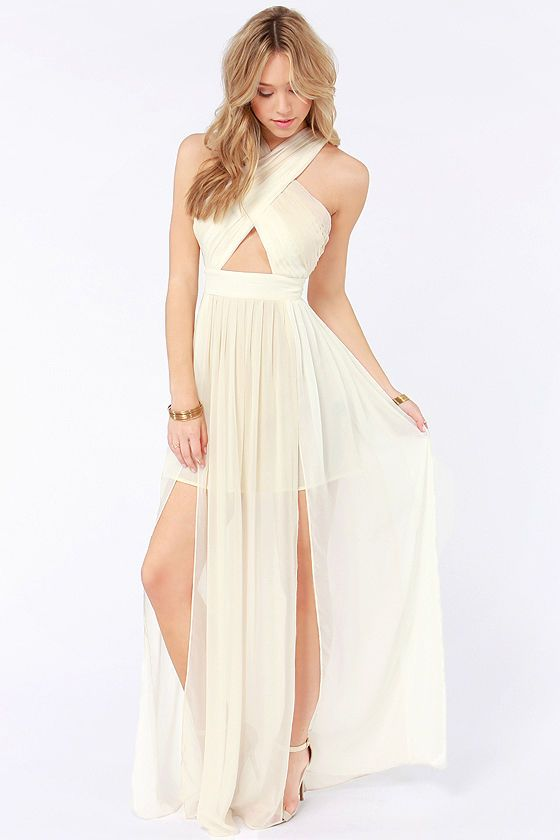 Pleat-er Patter Cream Color Block Maxi Dress - Pleat-er Patter Cream Color Block Maxi Dress Color Blocking
