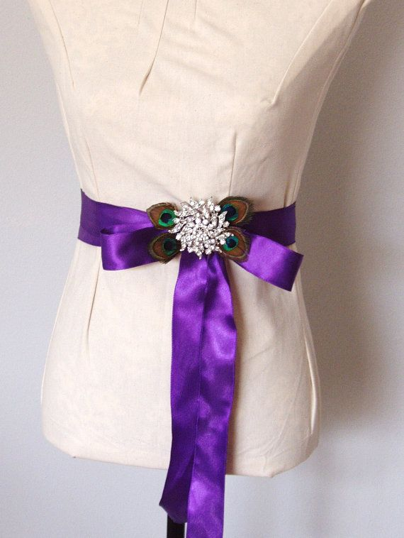 Purple Bridesmaid Sash