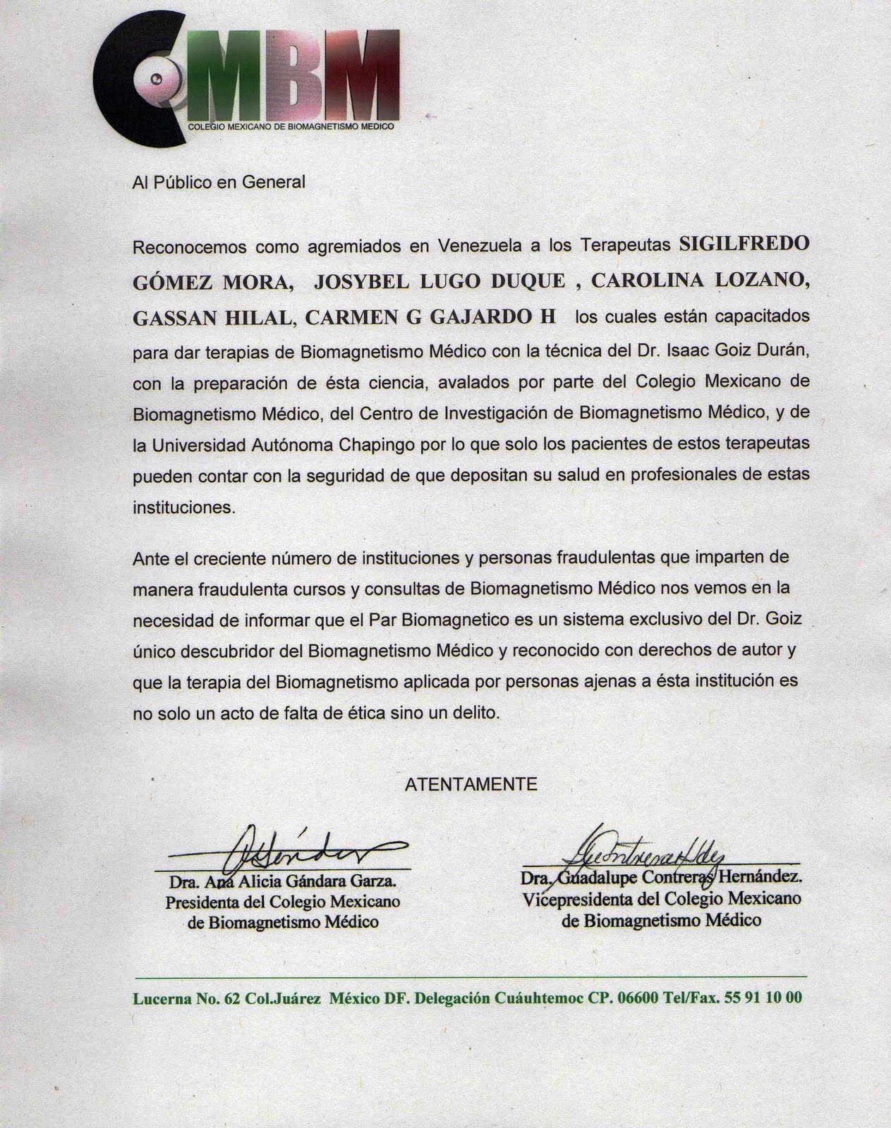BIOMAGNETISMO MÉDICO EN VENEZUELA