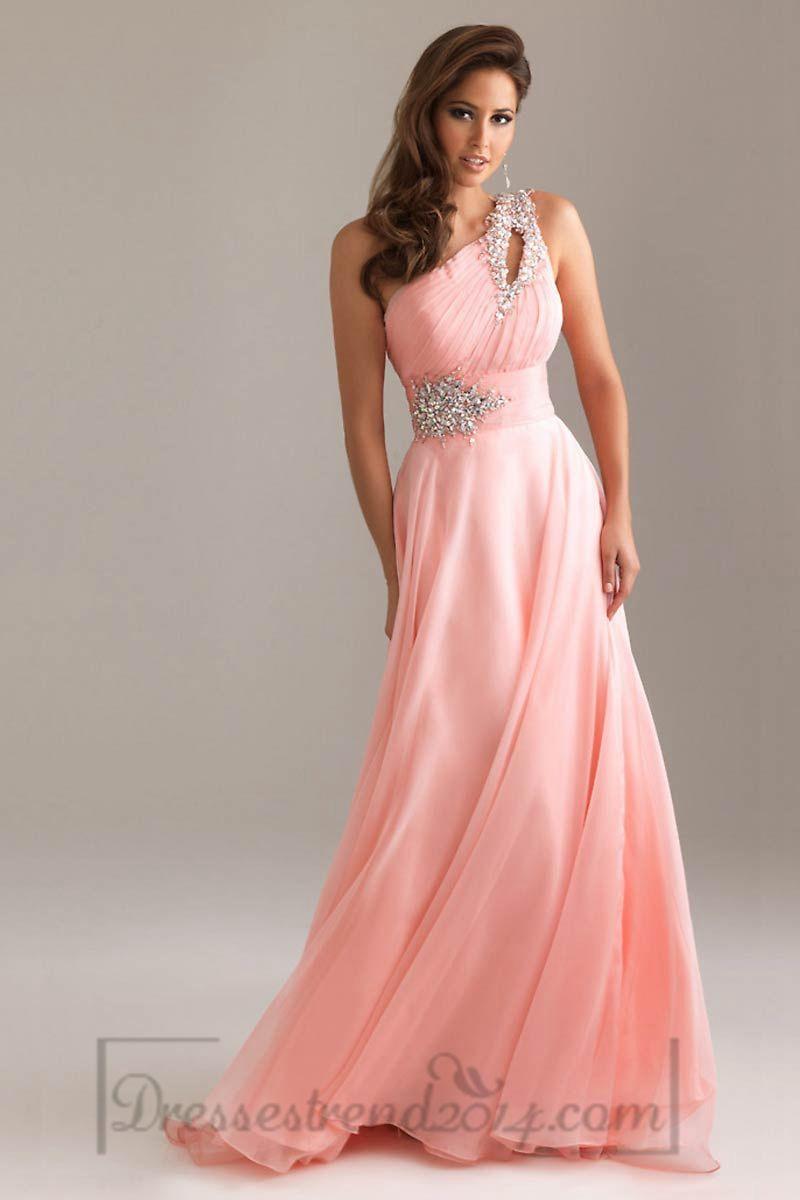 Elegant one shoulder formal gorgeous gowns pinterest prom