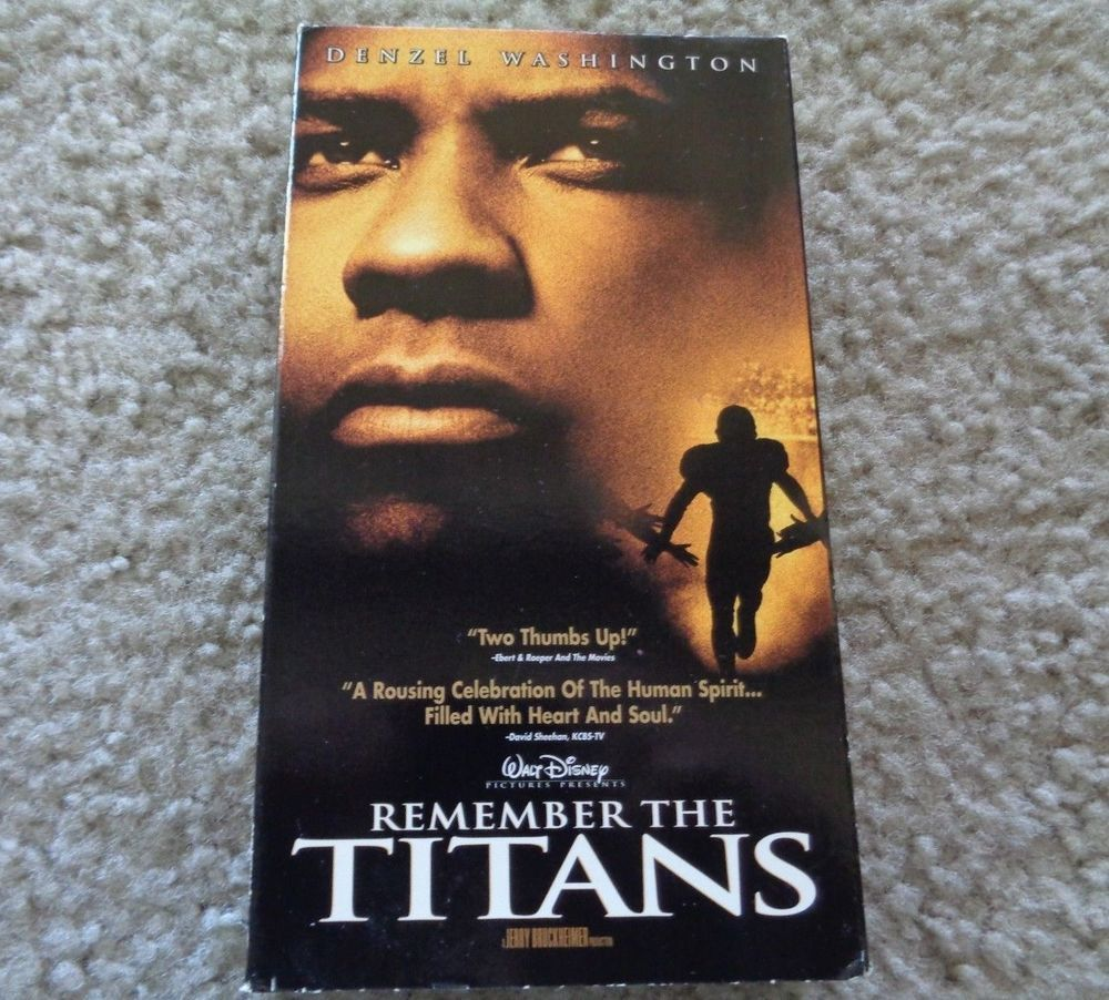 Remember The Titans Vhs Movies Vhs Movie Remember The Titans Movies