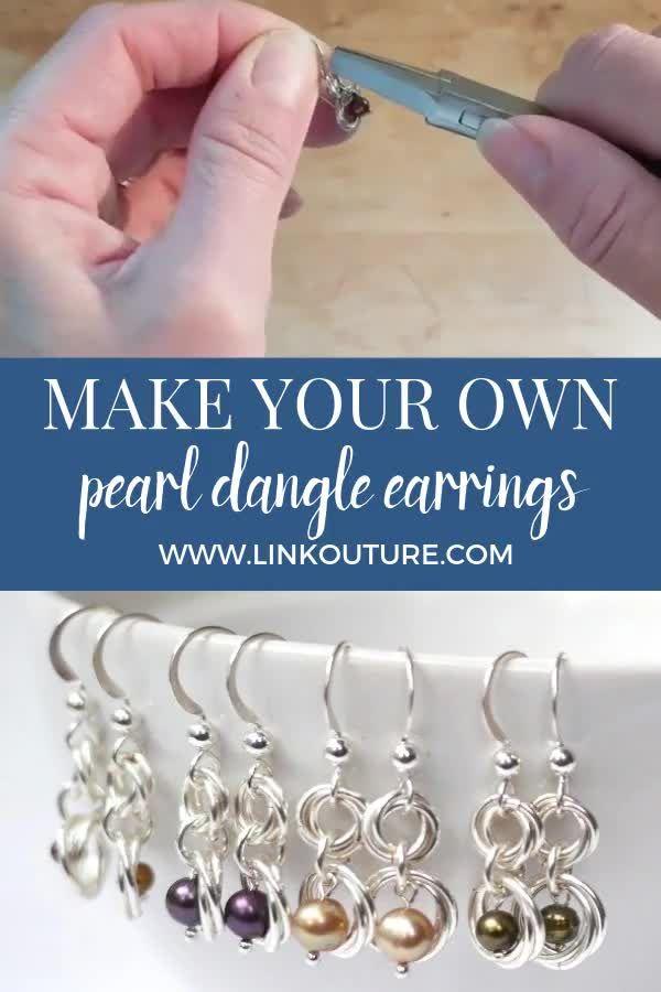 Photo of Easy DIY dangle pearl earrings