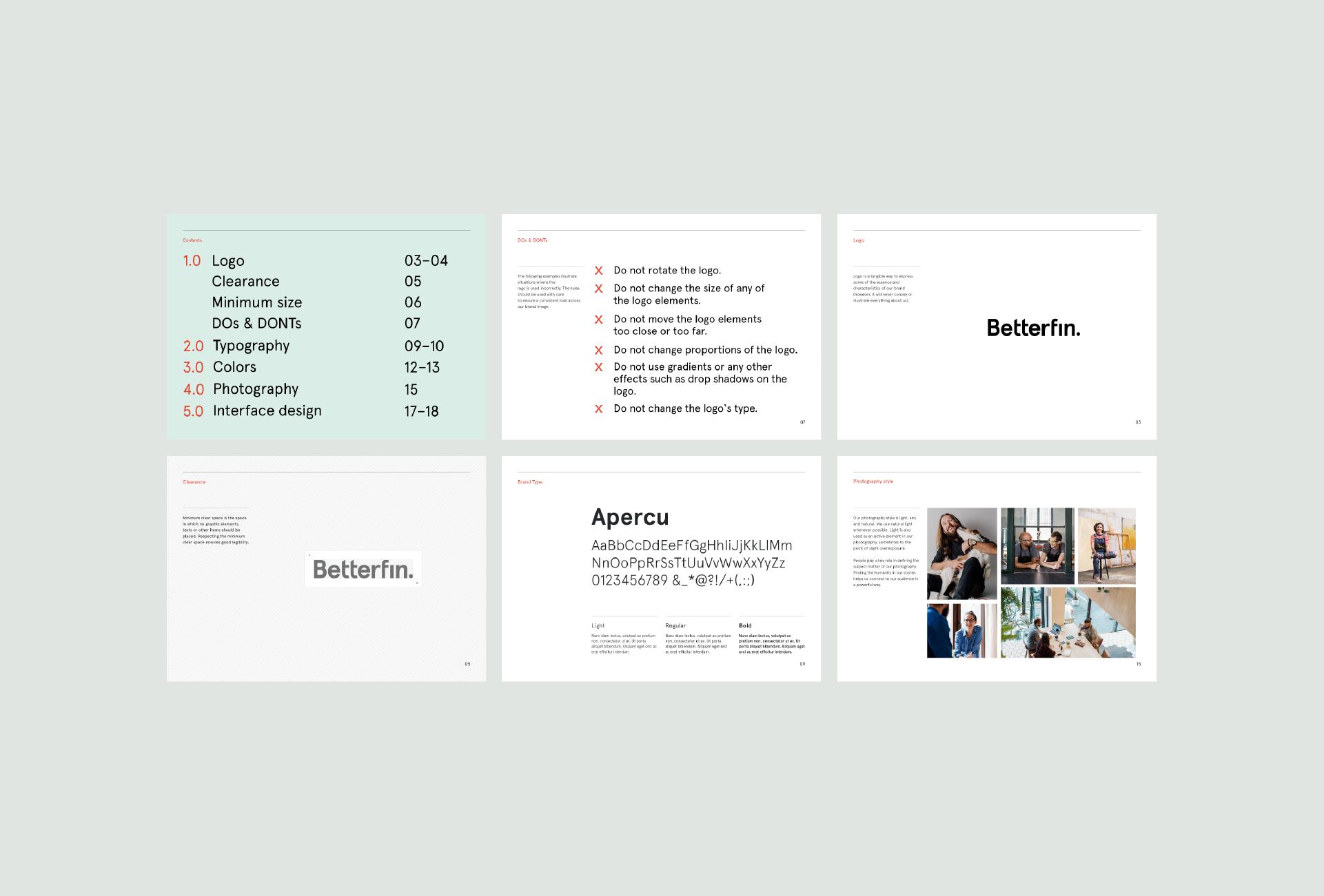 Betterfin guidelines mfiasova Logo Identity Pinterest