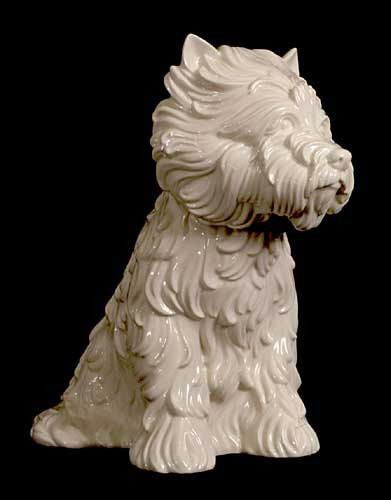 Jeff Koons Puppy Vase In The Form Of West Highland Terrier 1998