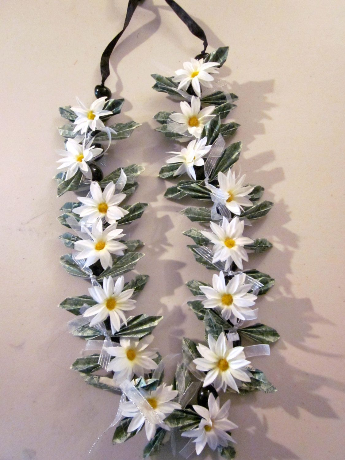 Graduation Leis  White Flowers Wedding Or Graduation Lei By Pcbymarilyn On  Etsy