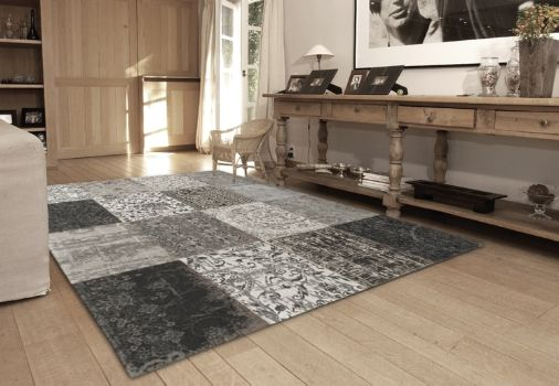 Vintage Black And White Free Uk Delivery On All Louis De Poortere Rugs Collection Distressed Designs In A Patchwork Style Perfect Large