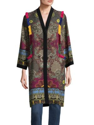 cloth Pinterest Cotton Fringe Jacket Etro etro ZnU14qcf