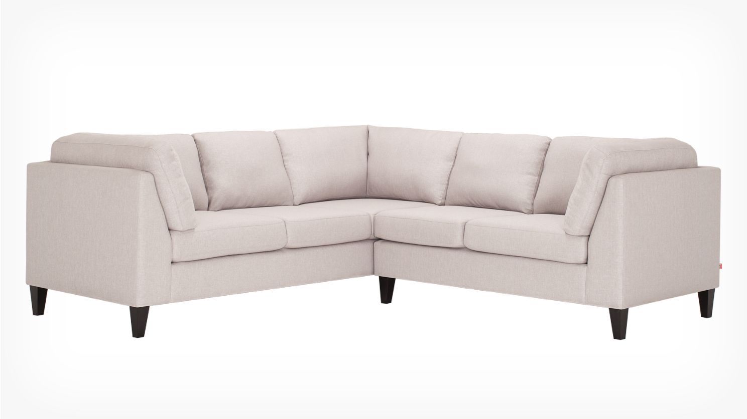Salema 2 Piece Sectional Sofa Polo Grey Front 02 Decoration  # Polo Muebles Hudson