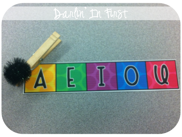 """I use this to assess my students on their long and short vowel sounds. Each kiddo has one in their """"tool kits"""" to use during word work. I simply call out a word {either a short or long vowel word...depending on what we are working on} and they move their clip to the correct sound."""