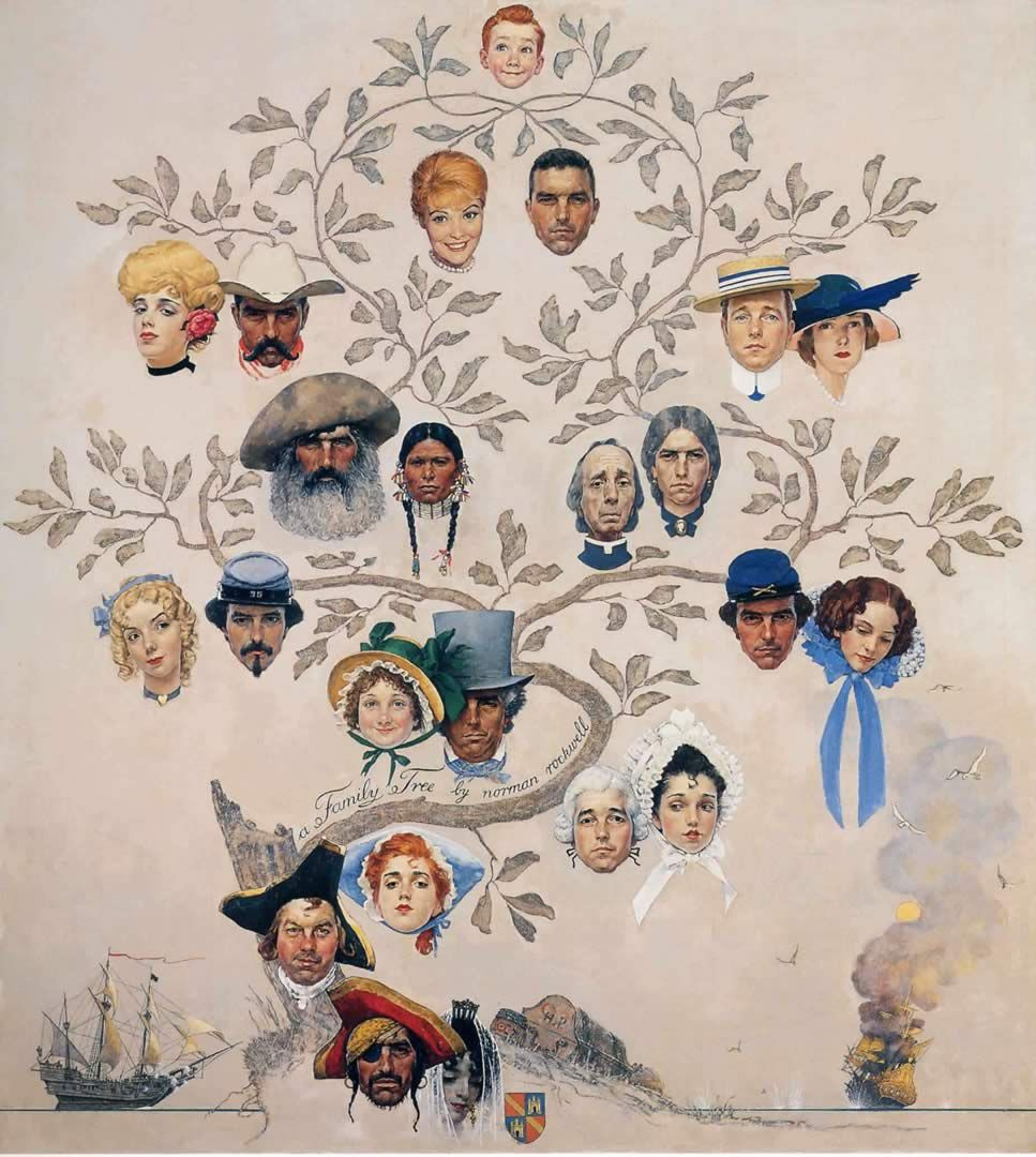 Family Tree - Norman Rockwell Paintings wallpaper image | Ancestral ...