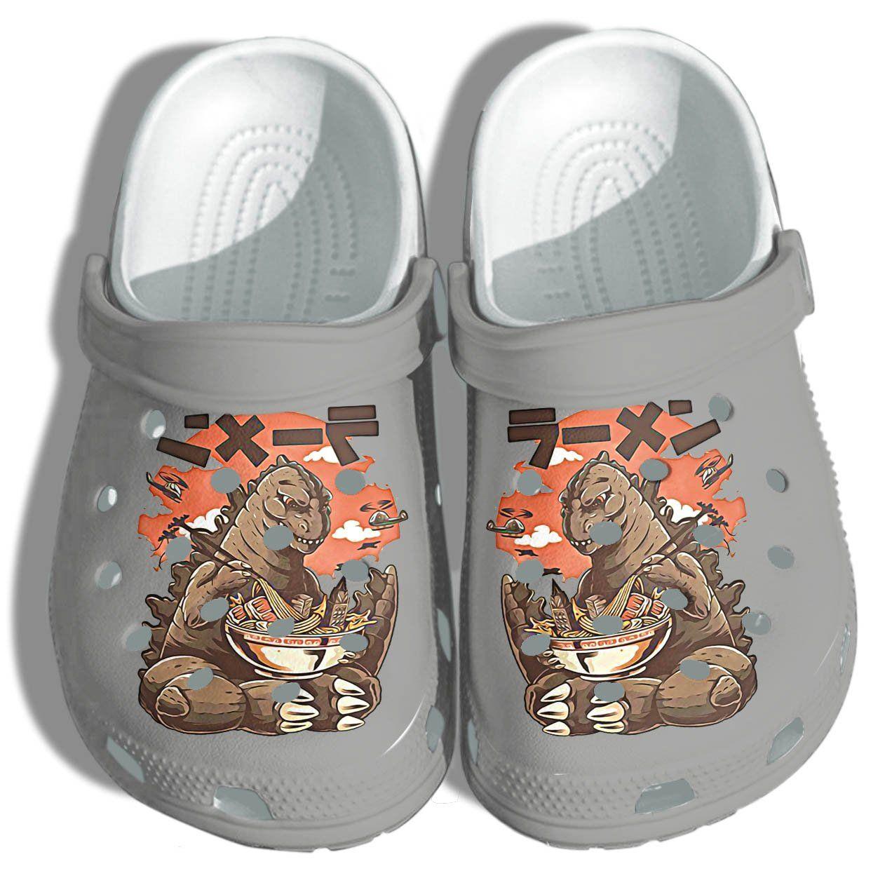 Photo of Godzilla Anime Shoes Croc 2021 Funny – Anime Godzilla Noodle Japan Shoes Croc For Men Women