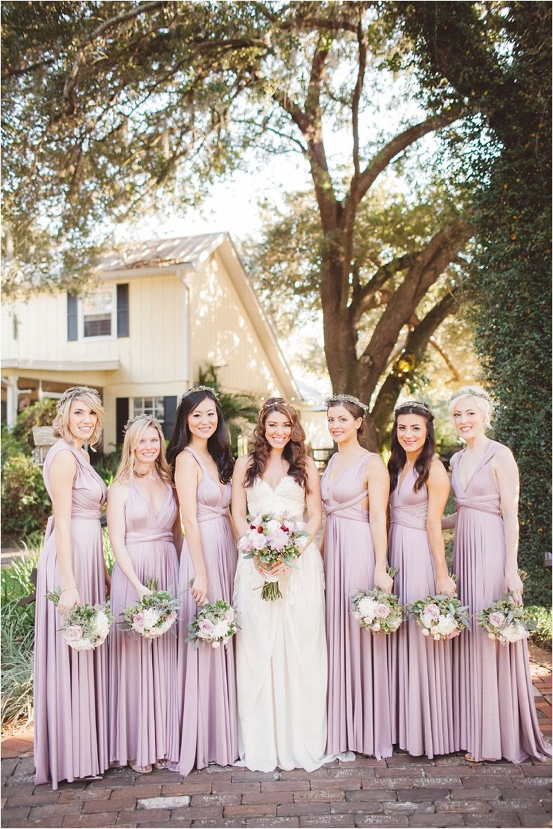 Nikole Rocco Cross Creek Ranch Tampa Wedding Lilac Bridesmaid Dresses Summer Bridesmaid Dresses Infinity Dress Bridesmaid [ 1199 x 800 Pixel ]