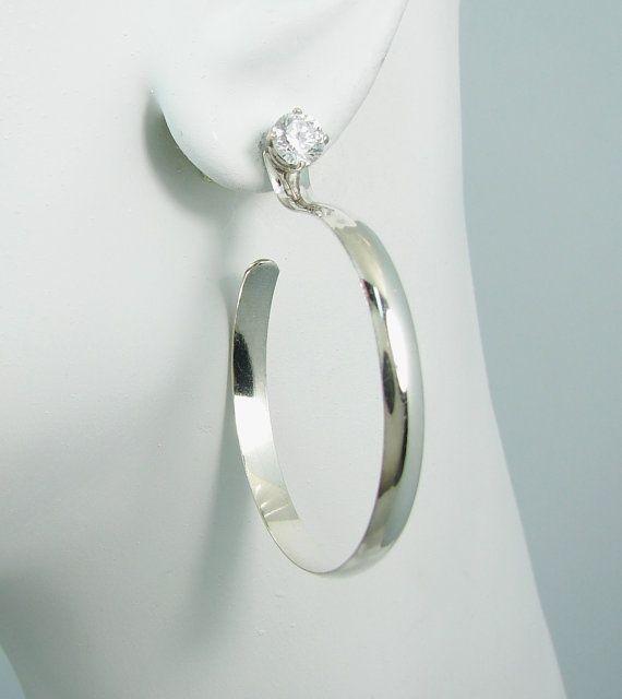 Earring Jackets Sterling Silver Hoop Drop Jacket For Studs Diamond Earing Ear