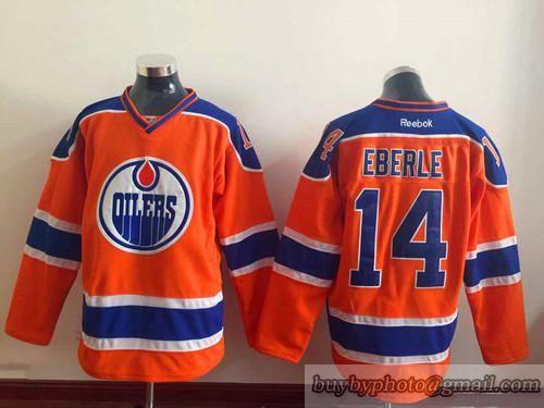 release date 7e09f 5e0f3 NHL Edmonton Oilers #14 Jordan Eberle Orange Jersey ...
