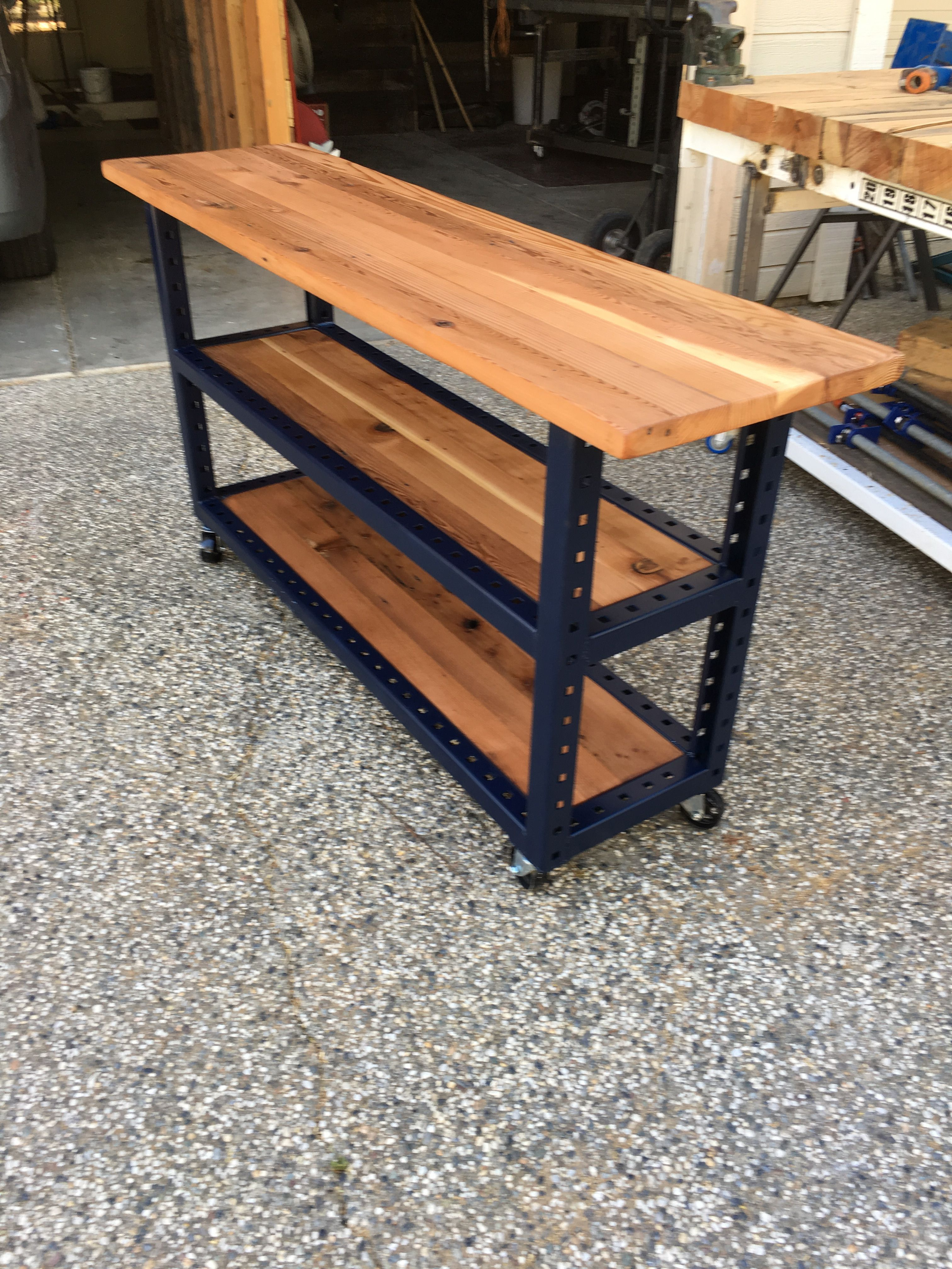 A console table on wheels. Home decor, Design, Reclaimed bed