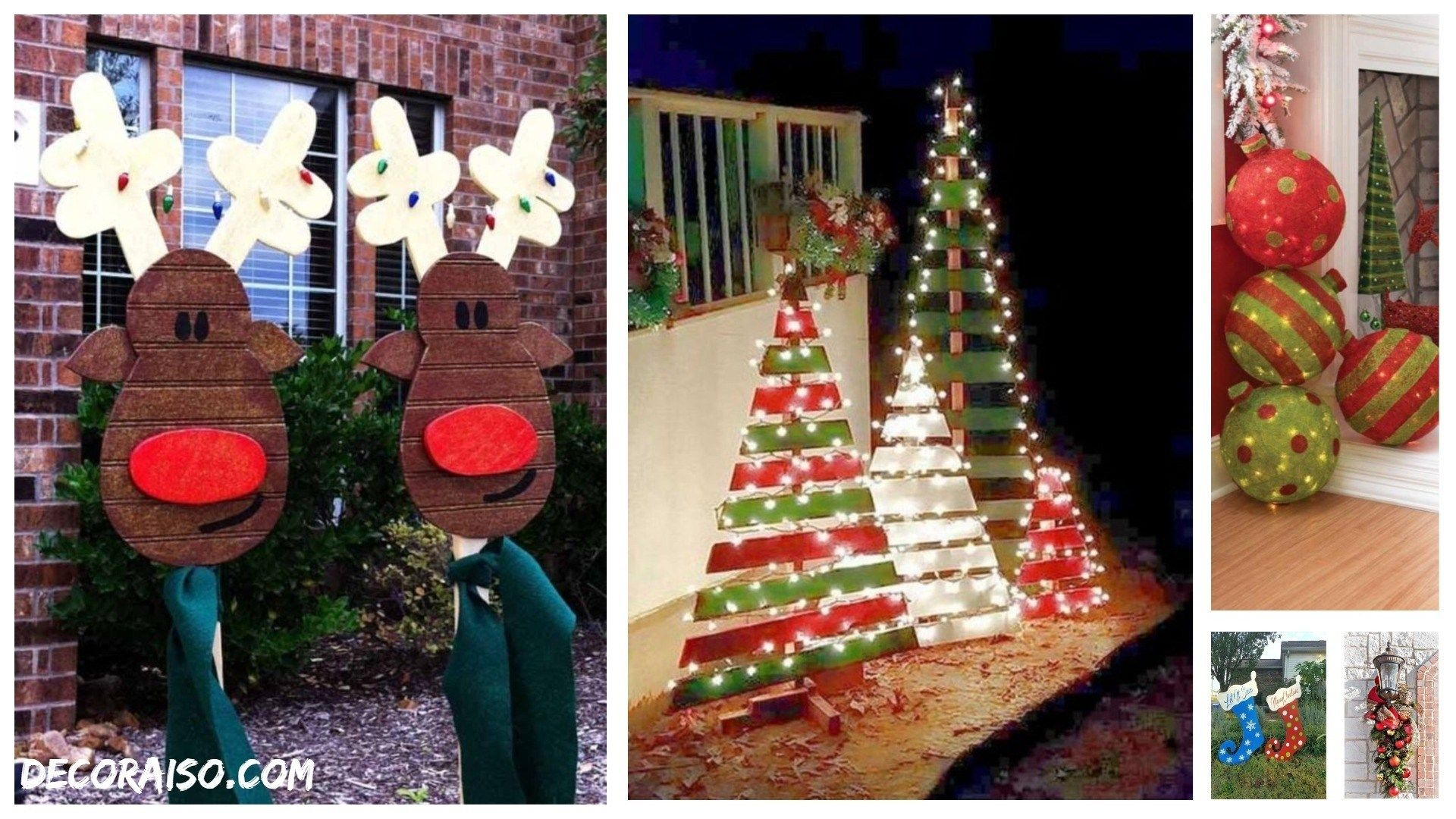 57 Outdoor Christmas Decorations For Your House Wooden Signs