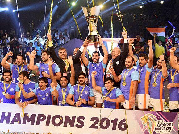 India Celebrates The Final Win Kabaddi World Cup 2016 Kabaddi World Cup India Win India Facts