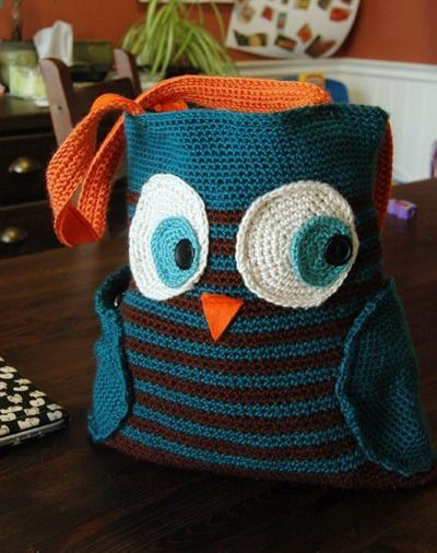 Crochet Owl Bag .... I wish I could crochet ... I love owls and this ...