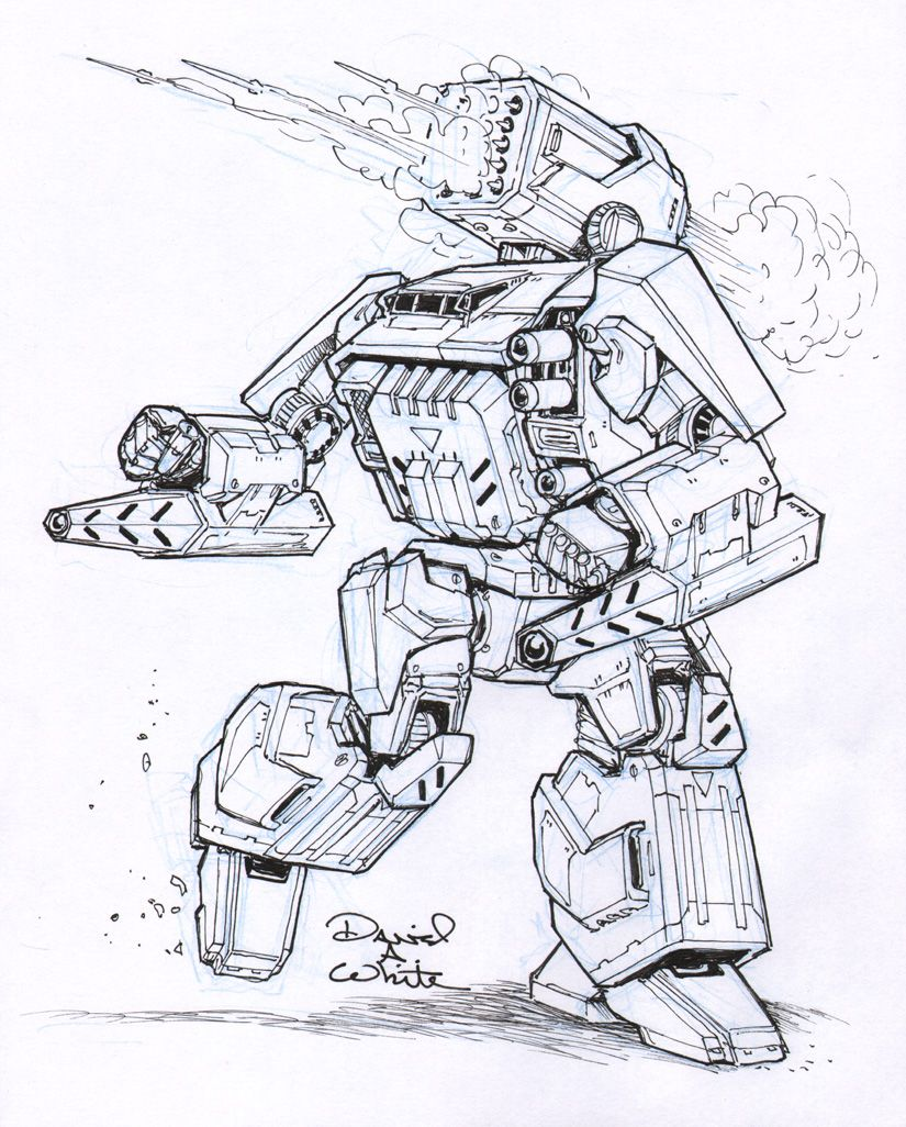 Thunderbolt Iic Mech Sketch By Mecha Master Deviantart Com On