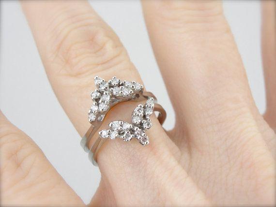 vintage engagement ring enhancer wrap guard jacket by. Black Bedroom Furniture Sets. Home Design Ideas