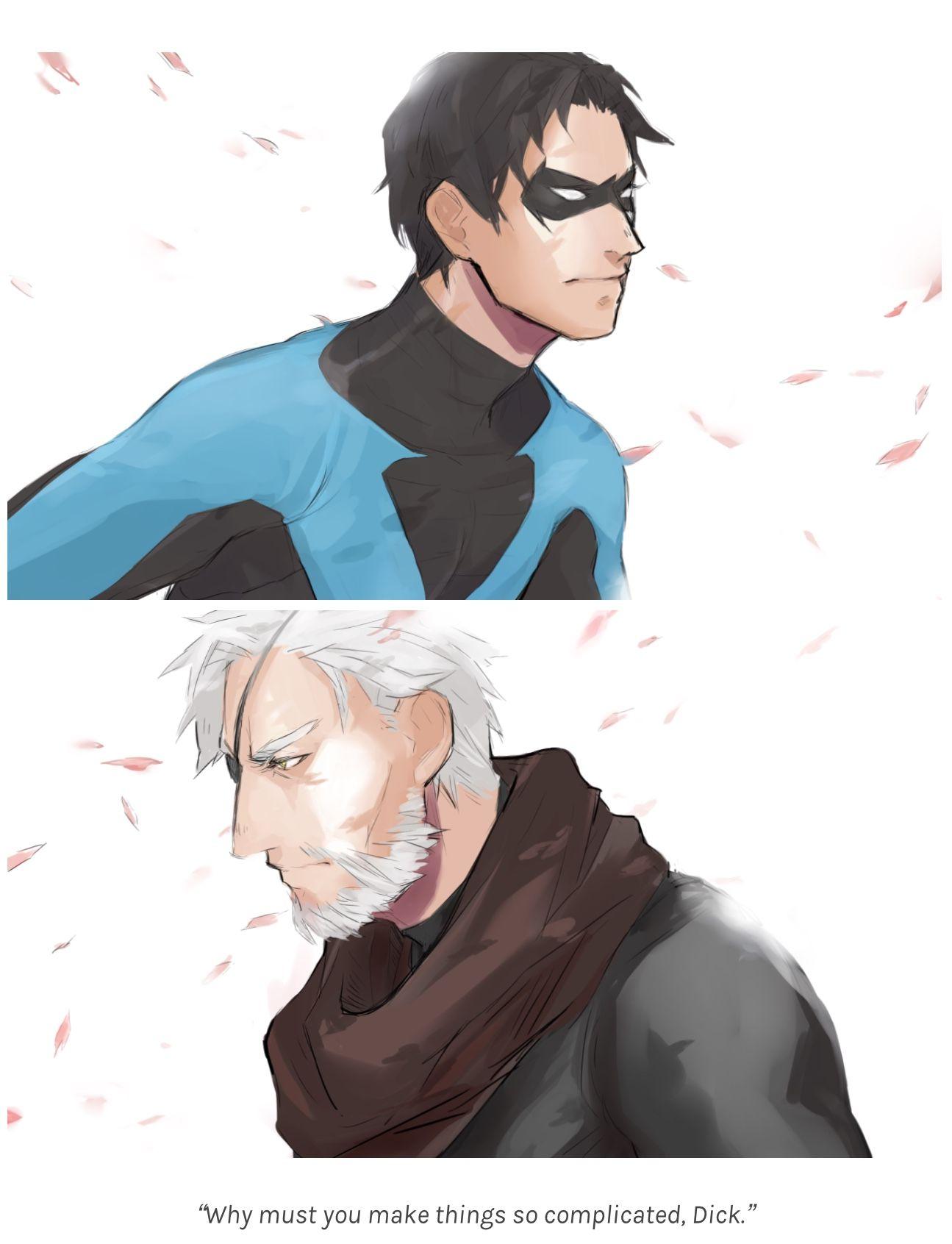 Slade/Dick | Sladin | Slade/Nightwing | Slade Wilson x Dick Grayson