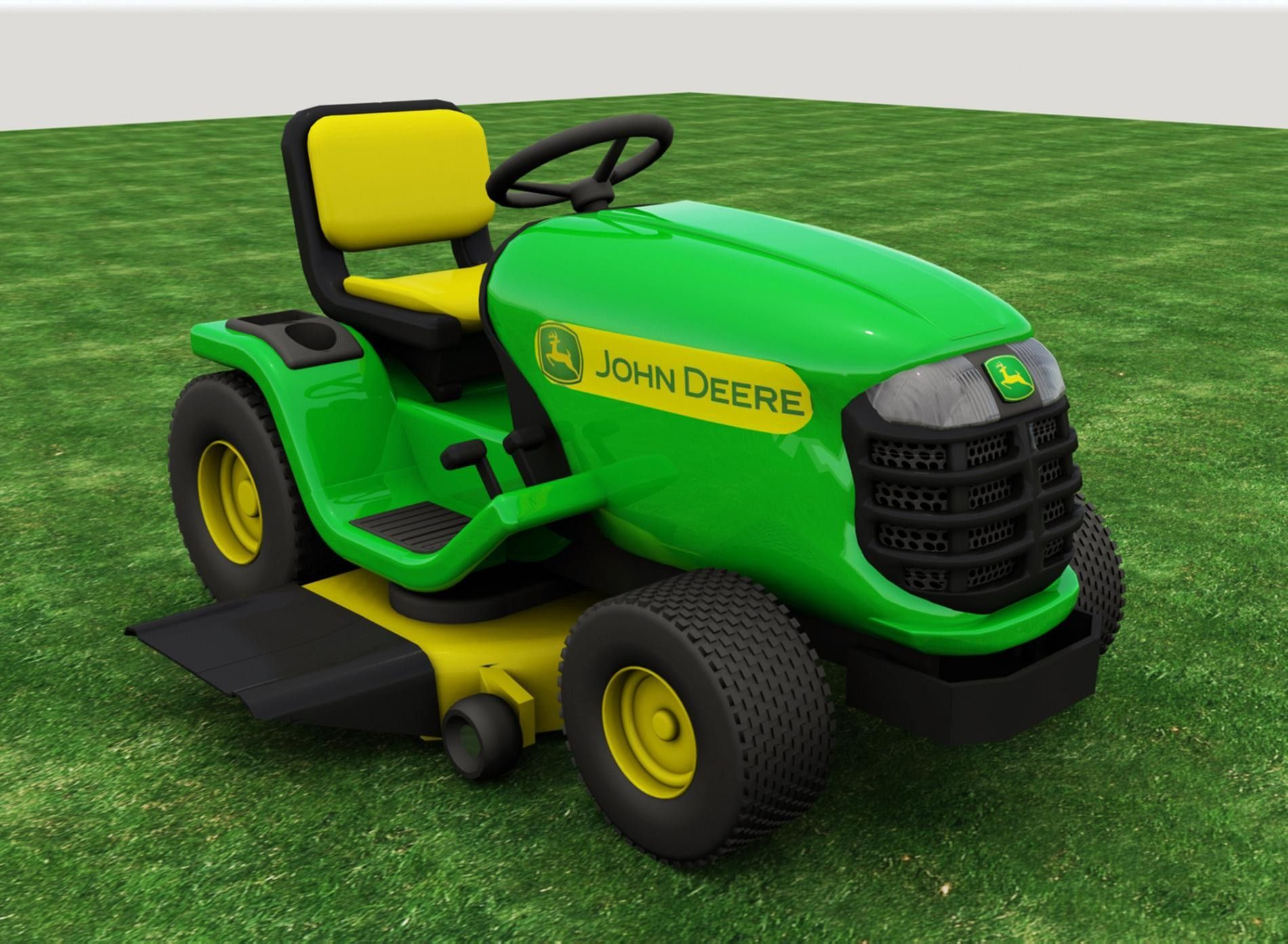 Max Riding Lawn Mower 3D Model 3D Modeling Pinterest