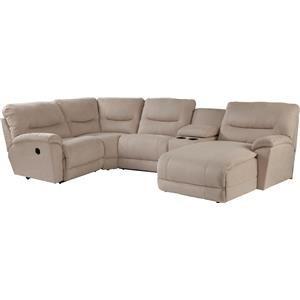 La Z Boy Dawson 5 Pc Reclining Sectional Sofa W Las