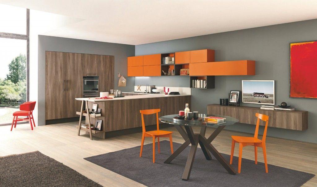 10 Stile contemporaneo per Ice di Febal che permette di combinare a - wohnzimmer rot orange