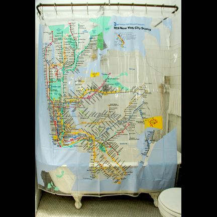 Shower Curtain And Hooks Check Out This Great NYC Subway Map Model Sorry