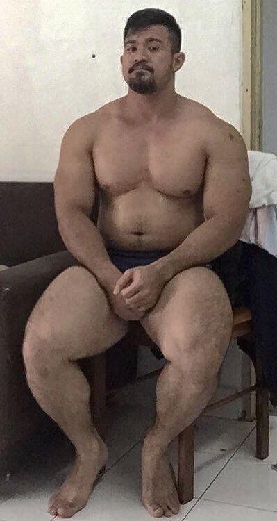 Beer belly man nude