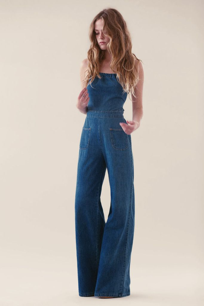 0cd49511fba5  AdoreWe  Oasap -  oasap Fashion Strpaless Denim Wide Leg Jumpsuit -  AdoreWe.