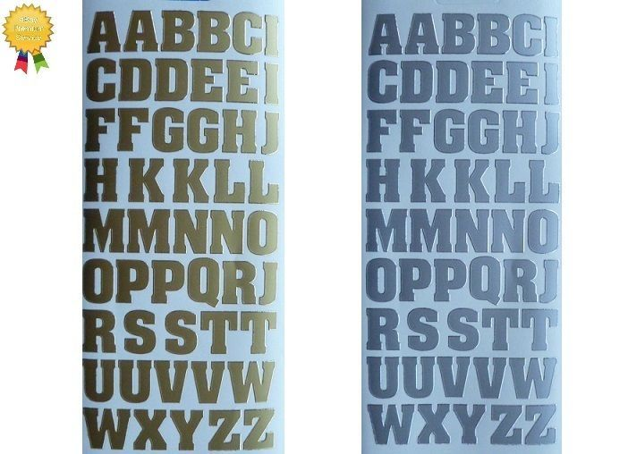 Details About Large Letters Peel Off Stickers 20mm Alphabet Card Making Gold Or Silver Lettering Alphabet Alphabet Cards Lettering