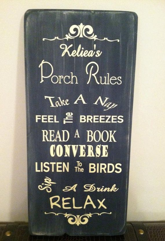 Wood Vinyl Sign For Back Porch By Signsplus On Etsy Outdoors