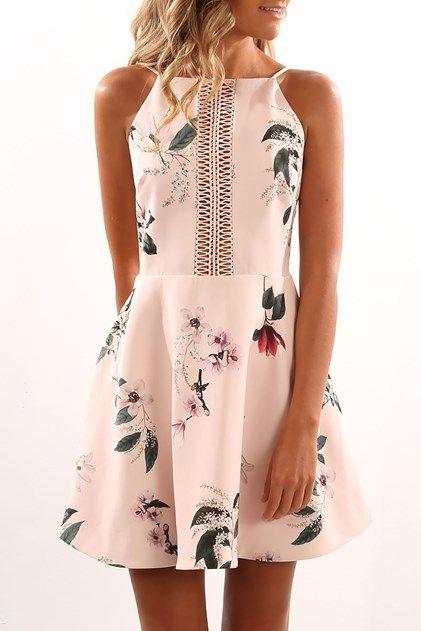138524380a Cool Semi Formal Dresses Do It Right Mini Dress Light Garden Floral... Check