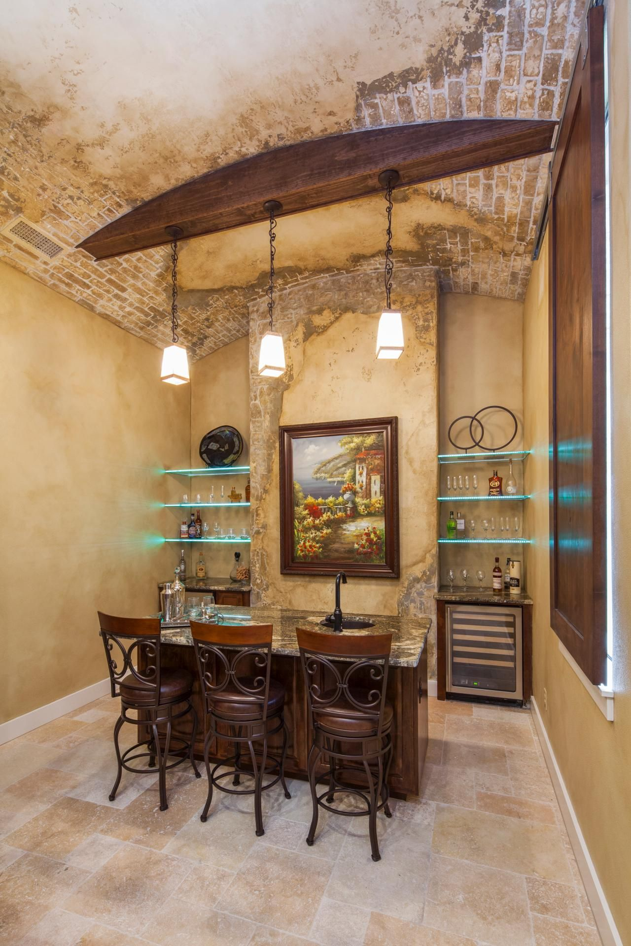Secret Old World Style Bar With Contemporary Touches | Home Bar ...